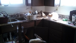 Love the new counter tops... but what a mess during the installation!