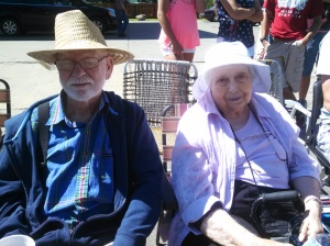 My cute grandparents at the parade