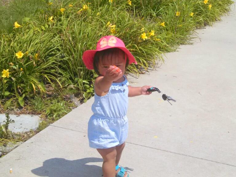 She's got the car keys, she's ready to go!