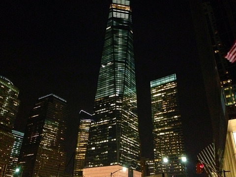 Freedom Tower at night