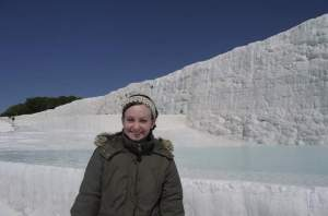 Having a blast in Pammukale, Turkey
