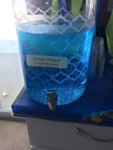 Ocean water (sprite with blue food coloring)