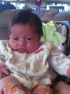 Cute and squishy newborn