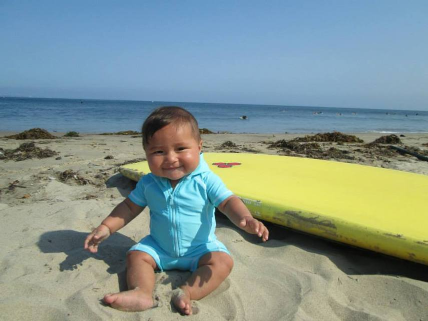 World record holder for Cutest Surfer Baby