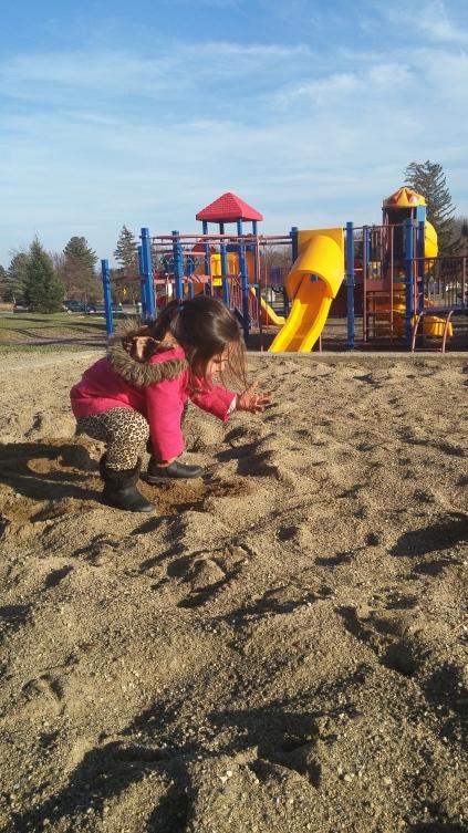 Sand castles in December!