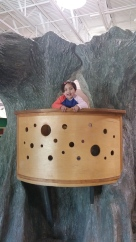 Climbing around in the discovery center