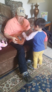 Guitar time with Grandpa